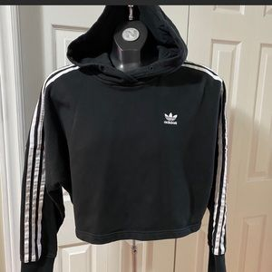 Adidas Cropped Hoodie Black Women's Size XS